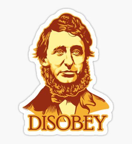 Henry David Thoreau Disobey Sticker