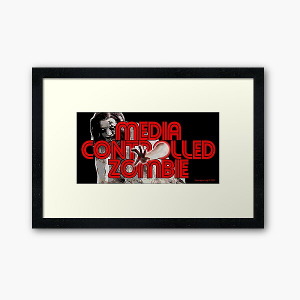 Media Zombies Framed Art Print