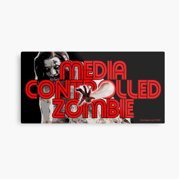 Media Zombies Metal Print