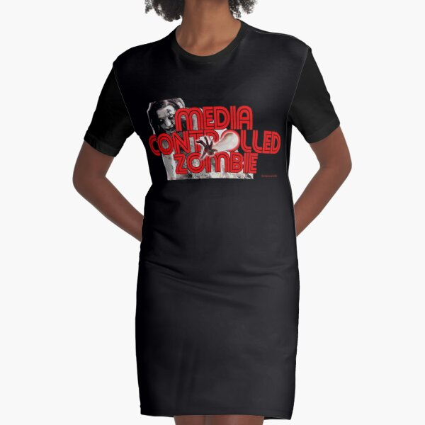 Media Zombies Graphic T-Shirt Dress