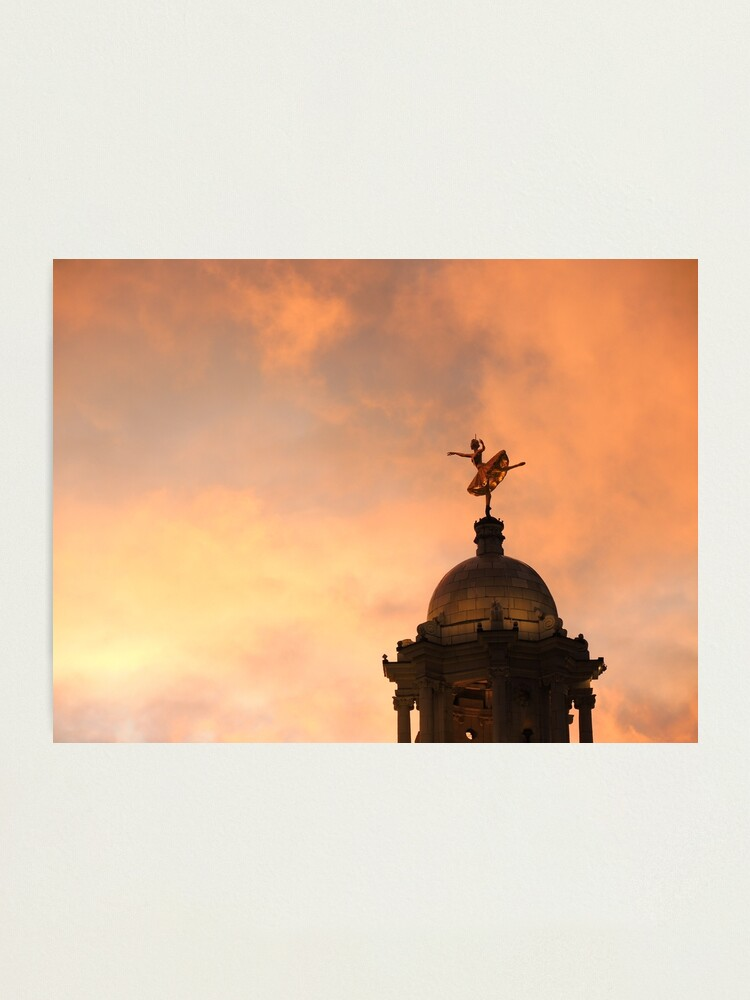 Alternate view of Ana Pavlova on top of the Victoria Palace Theatre London Photographic Print