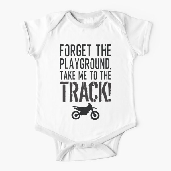 Forget The Playground, Take Me to the Track - Chemise de motocross Body manches courtes
