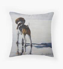 Beagle Reflections Throw Pillow