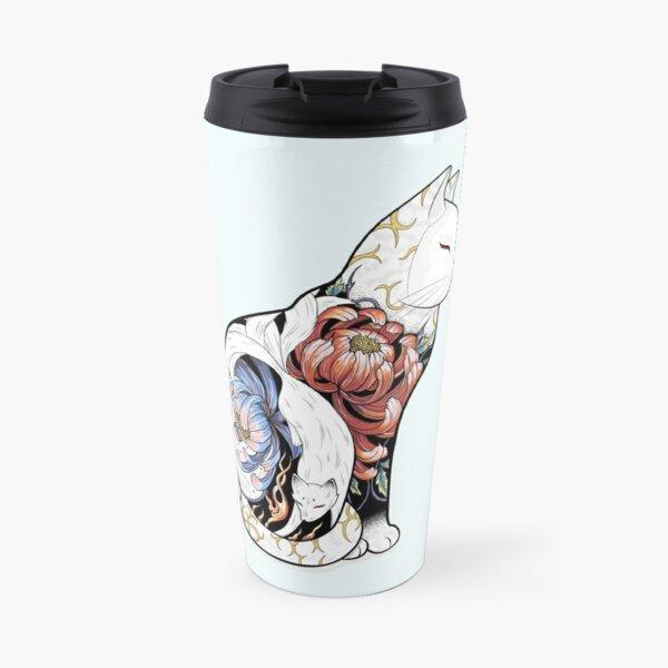 Kitsune Cat Tattoo  Travel Mug