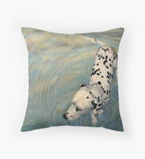Dalmatian In The Sky Throw Pillow