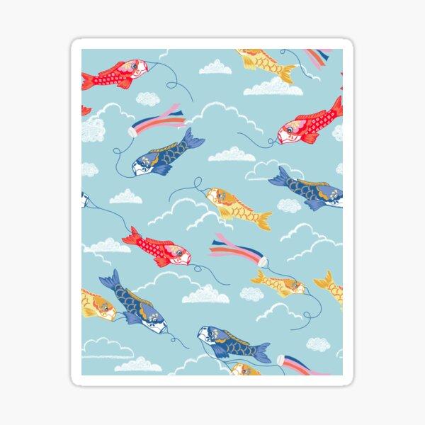 Koi carp kites Sticker