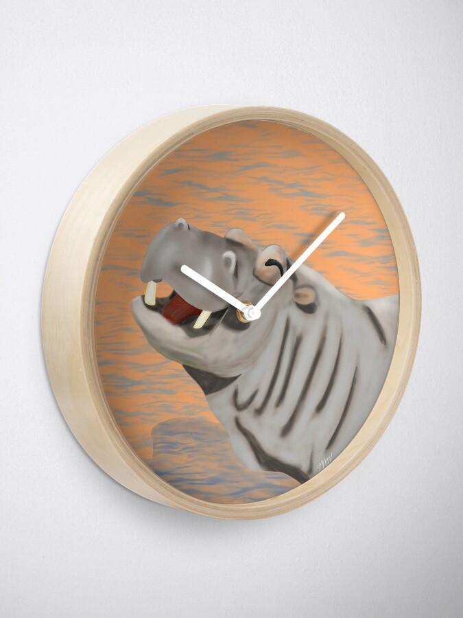 Alternate view of Hippopotamus - Hank Hippo Clock
