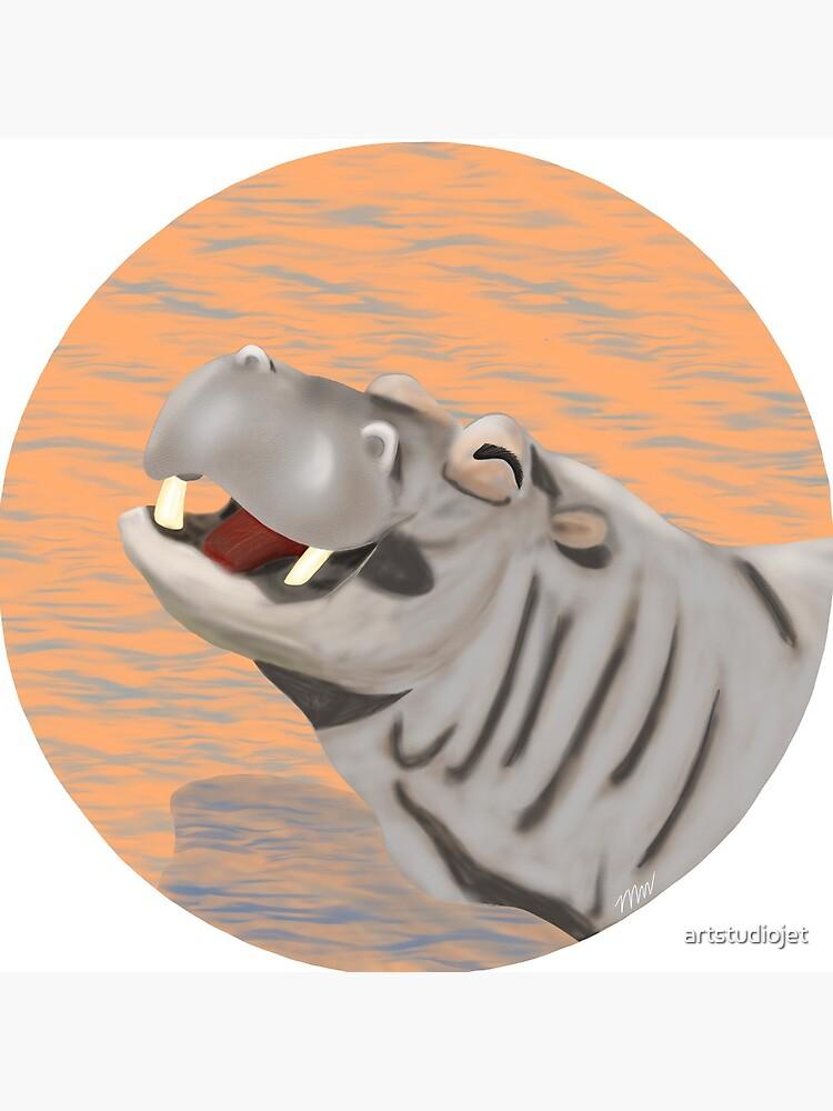 Hippopotamus - Hank Hippo by artstudiojet