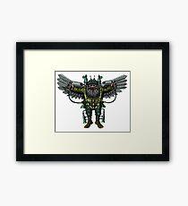 Flying Man funny cartoon drawing Framed Print