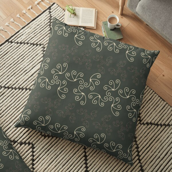 Mandala Swirl Collection Floral Seamless Surface Pattern Floor Pillow