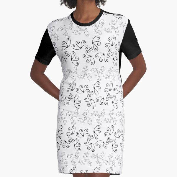 Mandala Swirl Collection Floral Seamless Surface Pattern Graphic T-Shirt Dress