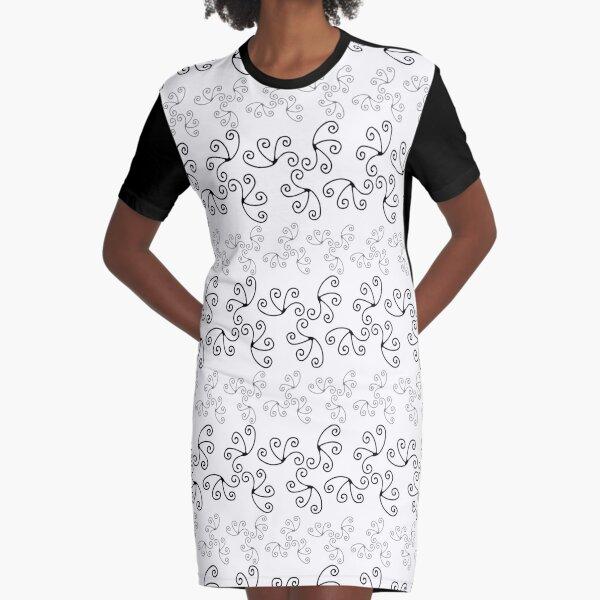Mandala Swirl Collection Floral Seamless Surface Pattern Graphic T-Shirt Dress