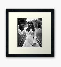 Amanda Tapping in White Framed Print