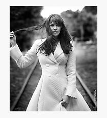 Amanda Tapping in White Photographic Print