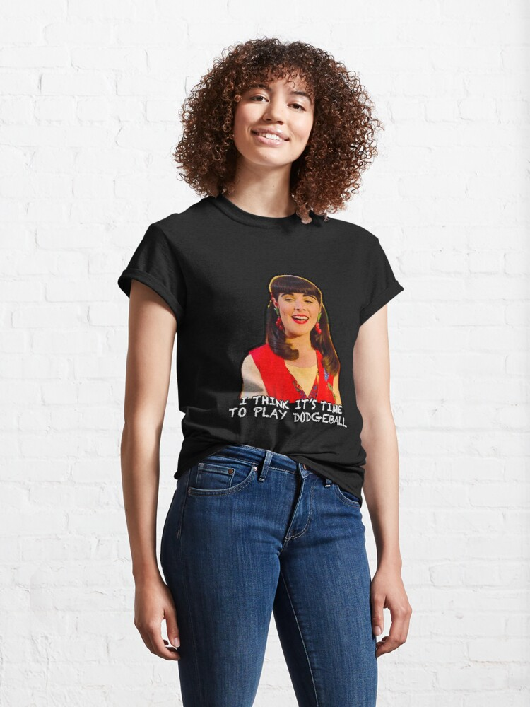 Alternate view of I Think it's Time to Play Dodgeball - Miss Lippy Classic T-Shirt