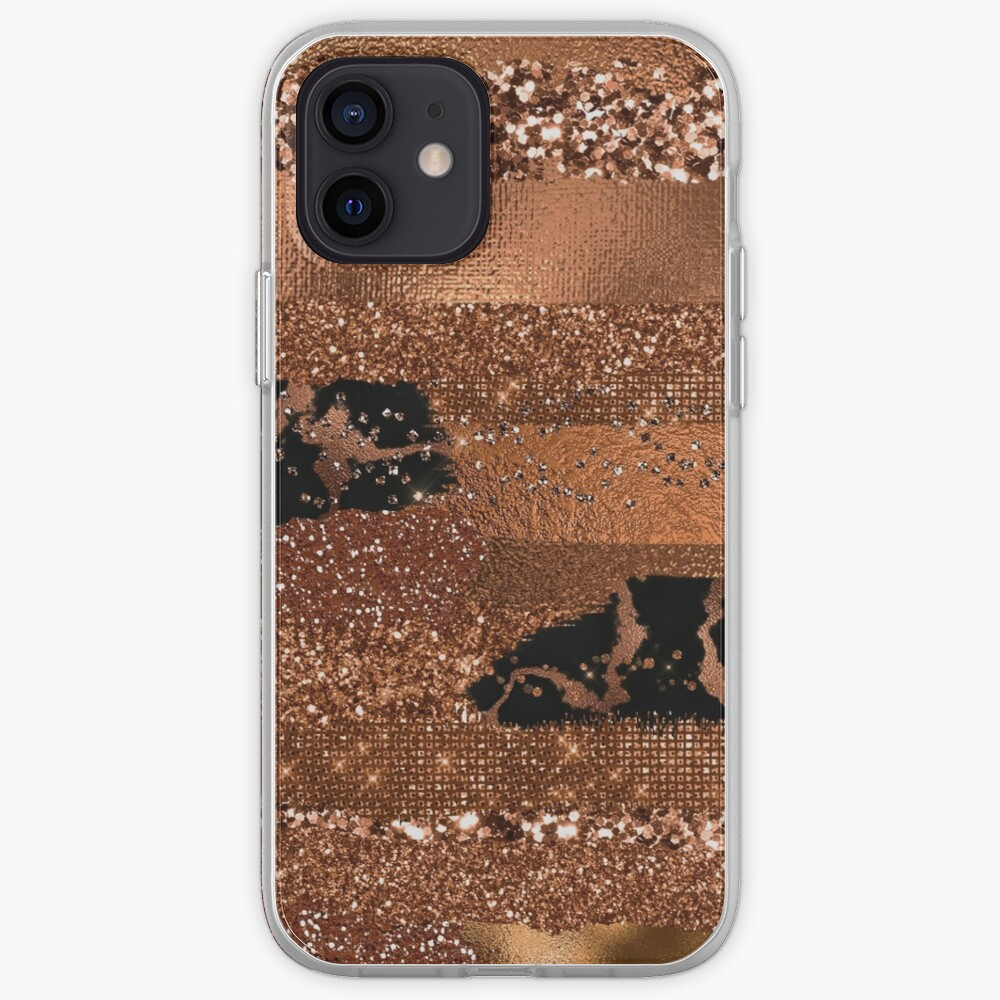 Dark Copper Glamour  iPhone Case & Cover