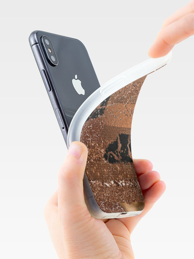 Alternate view of Dark Copper Glamour  iPhone Case & Cover