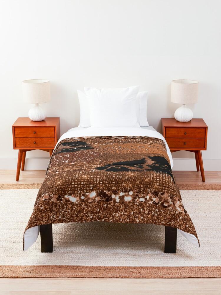 Alternate view of Dark Copper Glamour  Comforter
