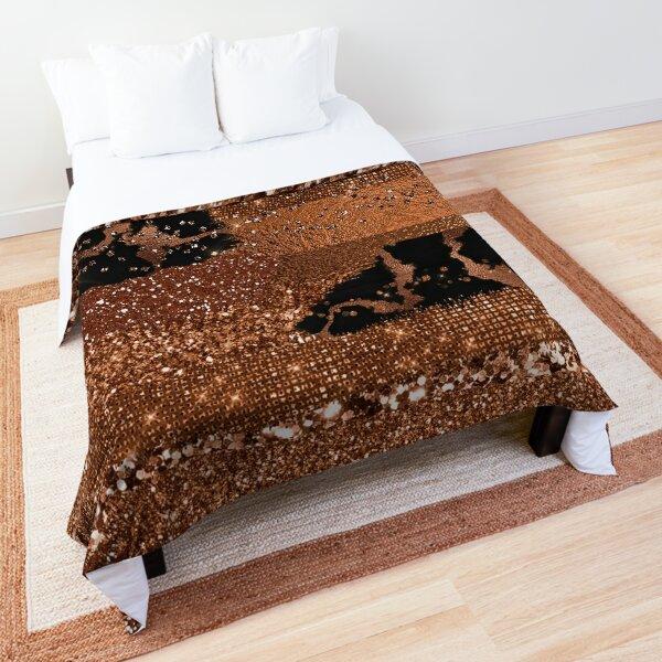 Dark Copper Glamour  Comforter