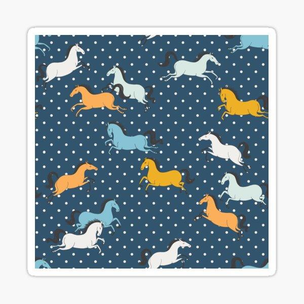Wild horses and polka dots Sticker