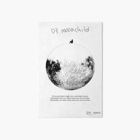 RM Mono. - Moonchild  Art Board Print