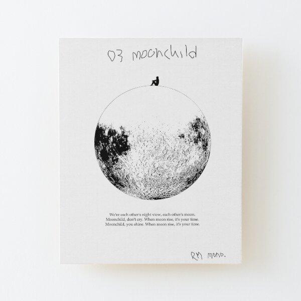 RM Mono. - Moonchild  Wood Mounted Print