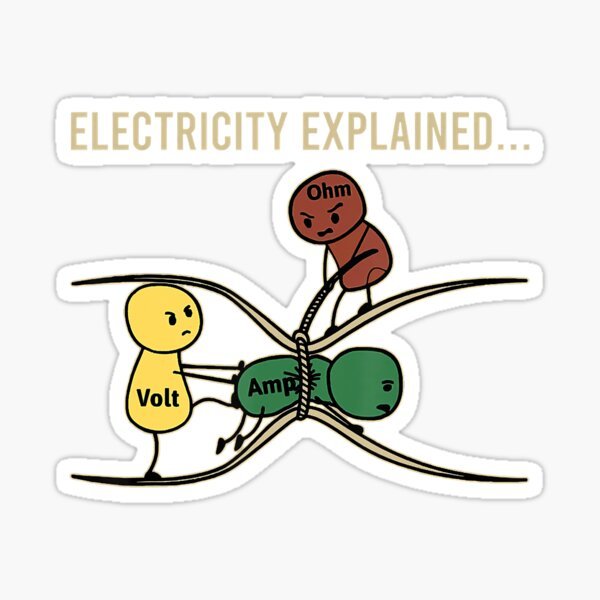Electricity Explained Funny Electric Sticker