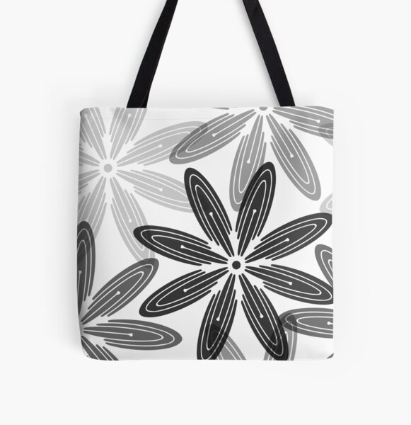Mandala Swirl Collection Floral Seamless Surface Pattern All Over Print Tote Bag