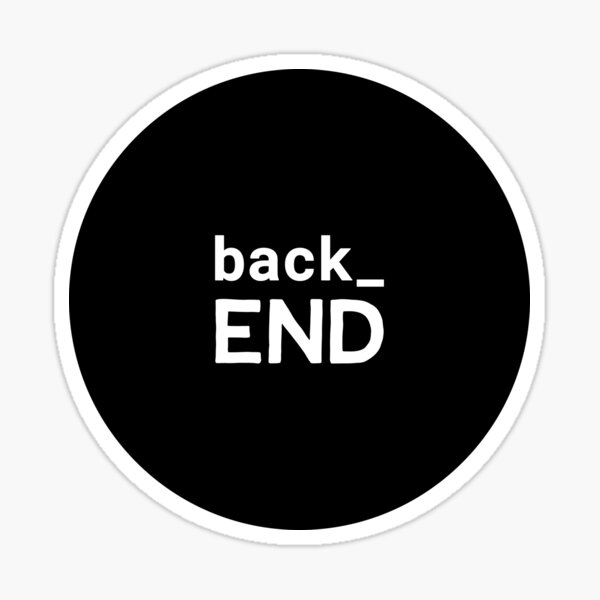 Back End Developer Sticker