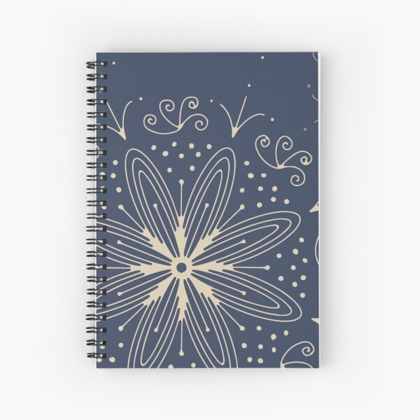 Mandala Swirl Collection Floral Seamless Surface Pattern Spiral Notebook