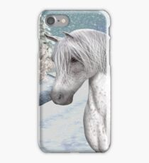 Winter Snow .. the tale of a wild horse iPhone Case/Skin