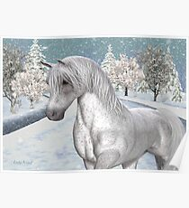Winter Snow .. the tale of a wild horse Poster
