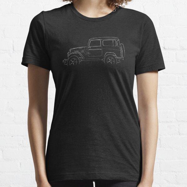 Toyota Land Cruiser FJ40 - profile stencil, white Essential T-Shirt