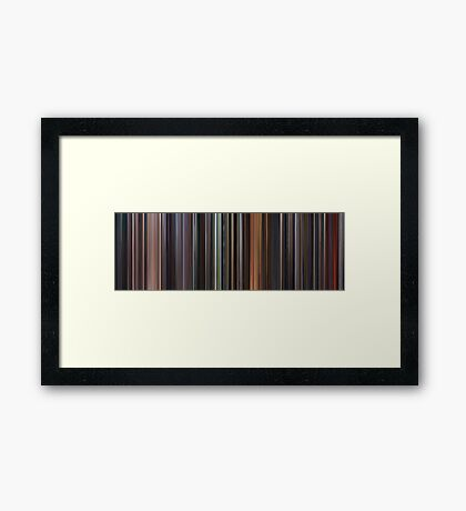 Moviebarcode: Star Wars: Prequel Trilogy (1999-2005) Framed Print
