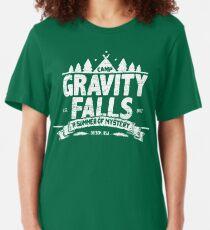 Camiseta ajustada Camp Gravity Falls (apariencia gastada)