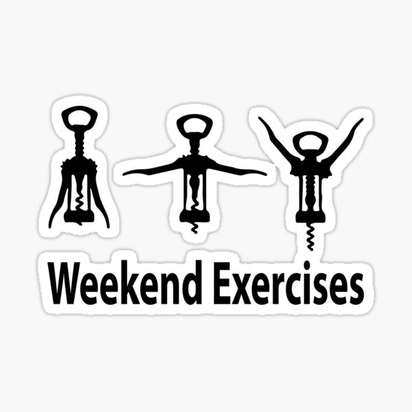 Weekend exercises Sticker