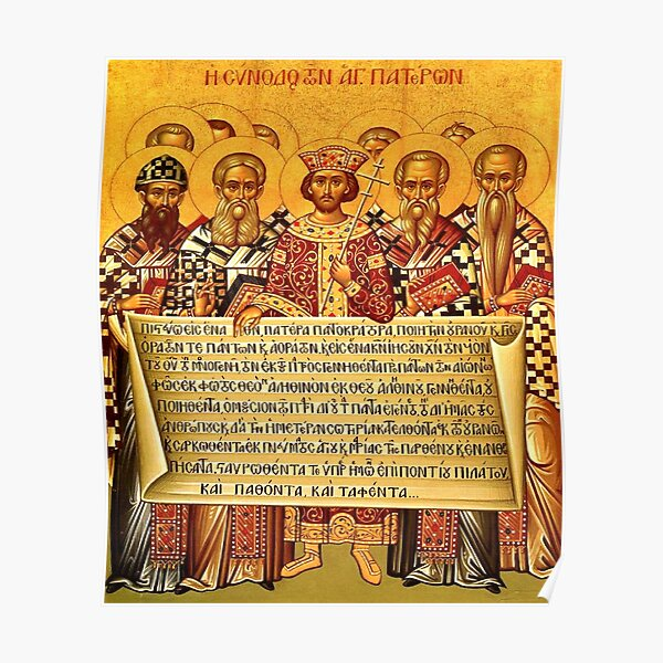 The Nicene Creed Icon Poster