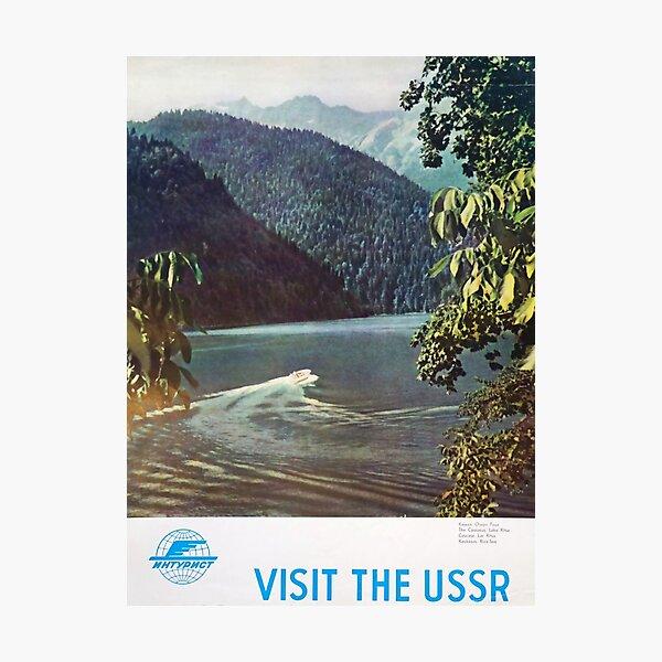 Visit the USSR vintage travel poster Photographic Print