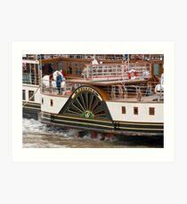 Waverley Paddle Steamer Paddles Art Print