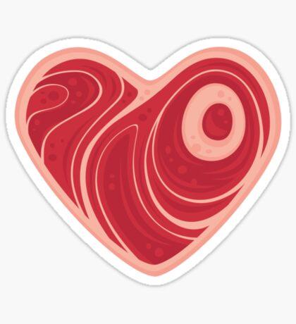 Meat Heart Sticker