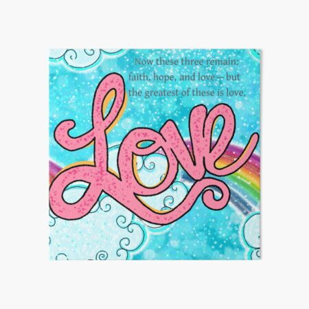 LOVE Art Board Print
