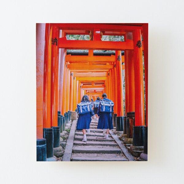 Japon - Sortie scolaire à Inari Impression montée sur bois