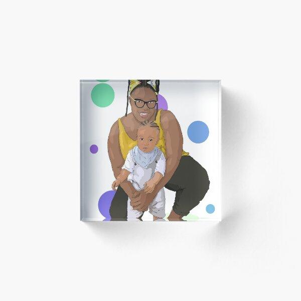 Mom and son Acrylic Block