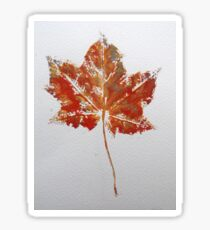 Maple Leaf Print 1 Sticker
