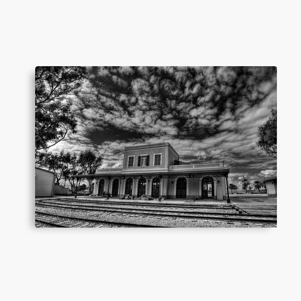 at the haunted station house Canvas Print