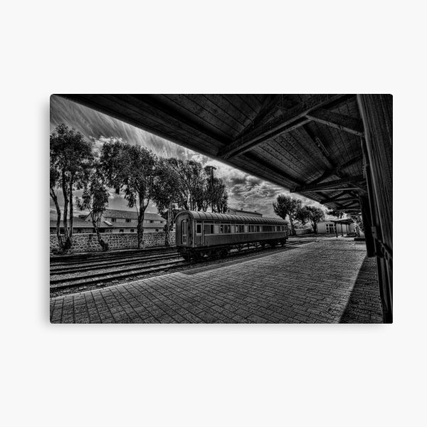 Moring dream at the train station Canvas Print
