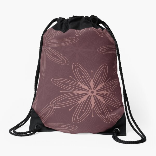 Mandala Swirl Collection Floral Seamless Surface Pattern Drawstring Bag