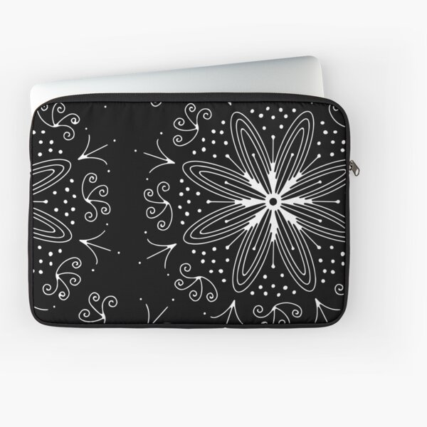 Mandala Swirl Collection Floral Seamless Surface Pattern Laptop Sleeve