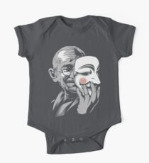 DISOBEY - Gandhi Putting on Guy Fawkes Mask One Piece - Short Sleeve