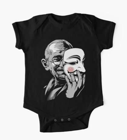 DISOBEY - Gandhi Putting on Guy Fawkes Mask Kids Clothes
